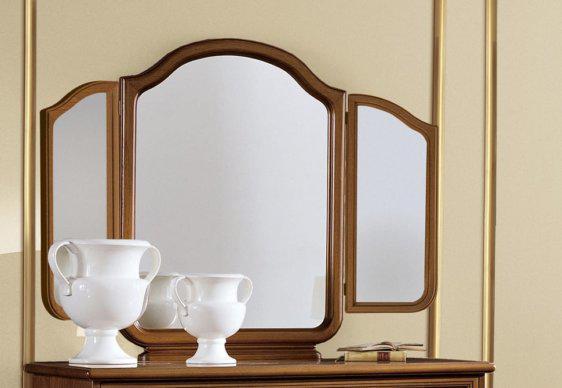 Κεντρικός ή Τρίπτυχος Καρυδί Καθρέφτης για Μπουντουάρ CG-330126