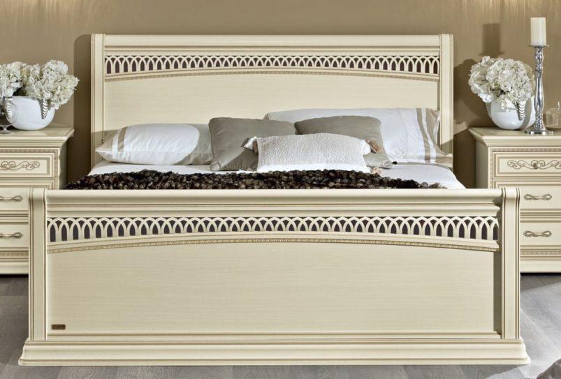 Ιταλικό Κρεβάτι Με Χειροποίητο Ivory Φινίρισμα CG-050464