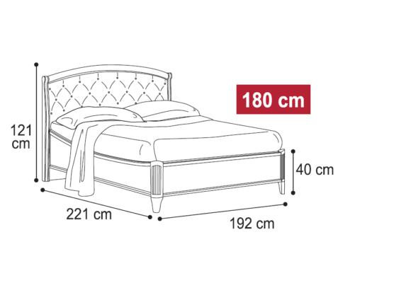 Κρεβάτι με Μπεζ Δέρμα σε Καρυδί Απόχρωση CG-050474
