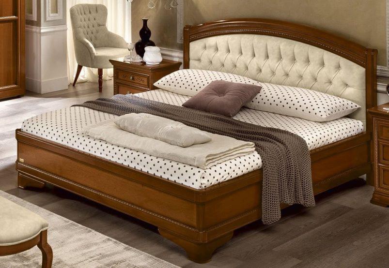 Λευκό ή Καρυδί Κόμψό Ιταλικό Κρεβάτι CG-050454
