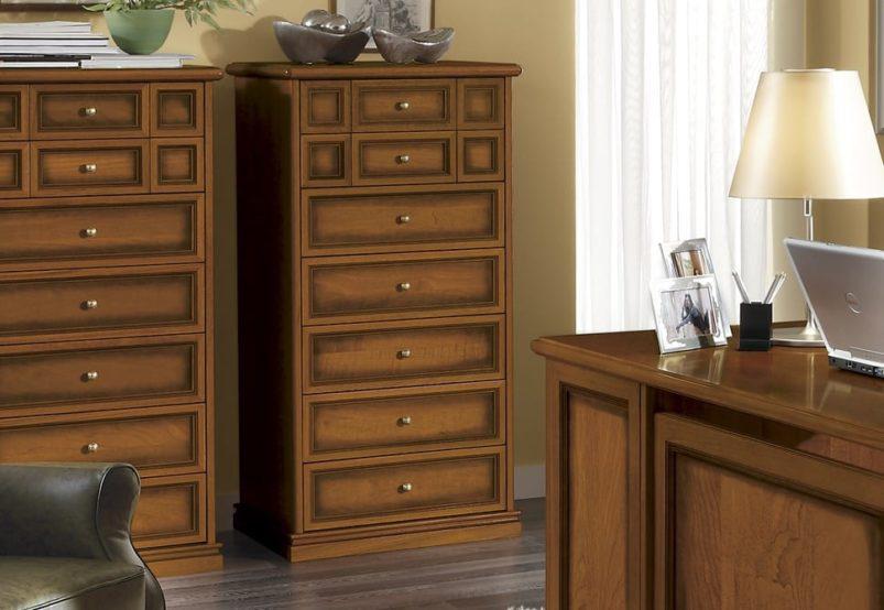 Στενή Vintage Συρταριέρα Με 7 Συρτάρια CG-370202