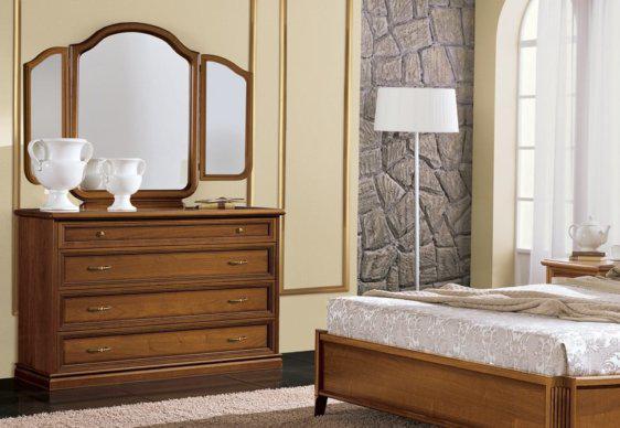 Κλασική Καρυδί Συρταριέρα με Αντικέ Φινίρισμα CG-370201
