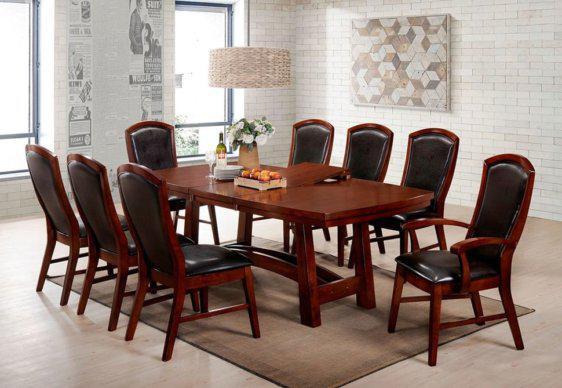 Καρέκλα Με Δερμάτινη (PU) Πλάτη και Κάθισμα G-135103