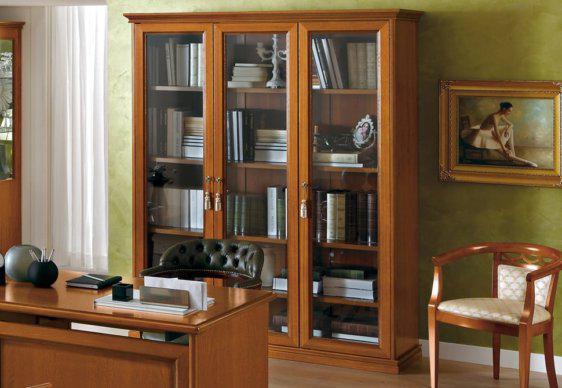 Τρίφυλλη Βιβιλιοθήκη με Τζάμια CG-126582