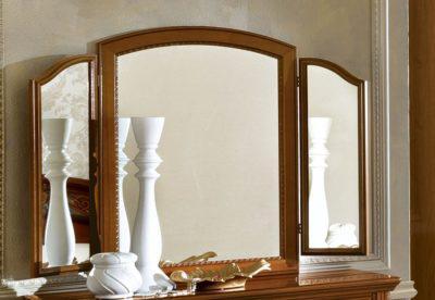 Τρίπτυχος Καρυδί Καθρέπτης για Μπουντουάρ CG-330120