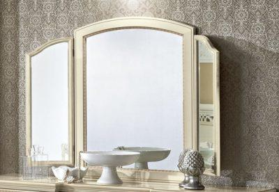 Λευκός Κλασικός Τρίφυλλος Καθρέπτης CG-330121