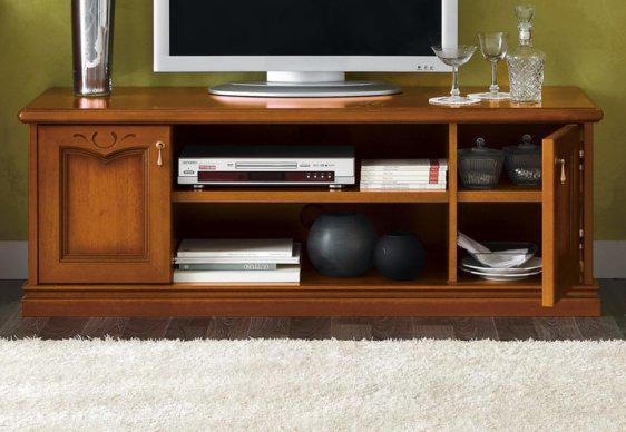 Έπιπλο TV 140X51X50 σε Αντικέ Καρυδί Απόχρωση CG-131524