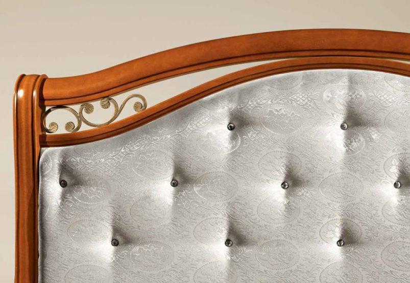 Κομψό Κρεβάτι Με Κρύσταλλα και Στρογγυλό Πόδι CG-050480