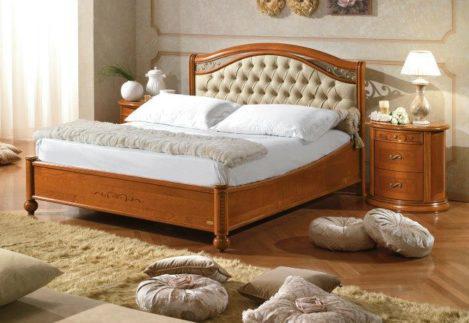 Καπιτονέ κρεβάτι με Χαμηλό ή Ψηλό Ποδαρικό CG-050482