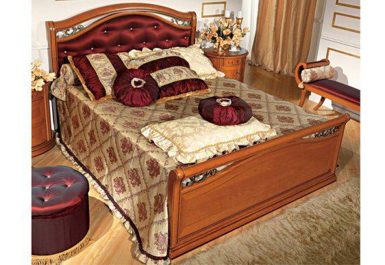 Βασιλικό Κρεβάτι με Κόκκινο Ταφτά και Κρύσταλλα CG-050481