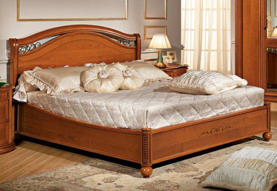 Ξύλινο Κρεβάτι με Διακοσμητικό Στοιχείο Από Μαόνι CG-050476
