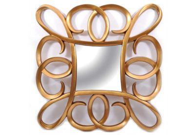 Μοντέρνος Χρυσός Καθρέφτης Σαλονιού Fl-330140