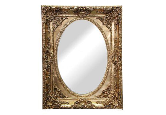 Οβάλ Καθρέφτης σε Ορθογώνια Κορνίζα G-330150
