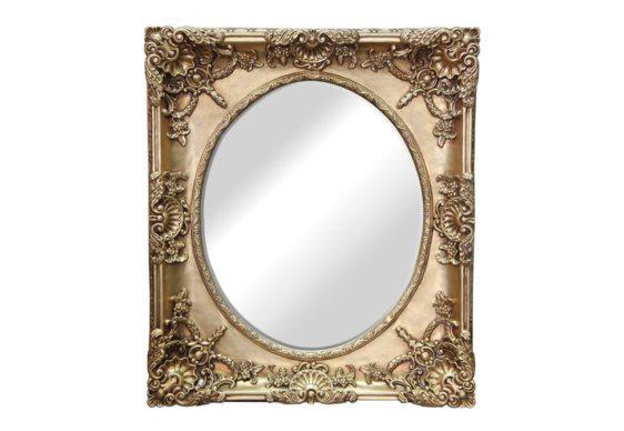 Ρομαντικός Καθρέφτης Τοίχου Σκαλιστός G-330154