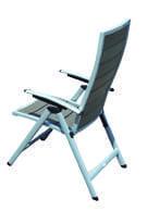 Ρυθμιζόμενη Πολυθρόνα Εξωτερικού Χώρου με Λευκό ή Γκρι Polywood AG-220461