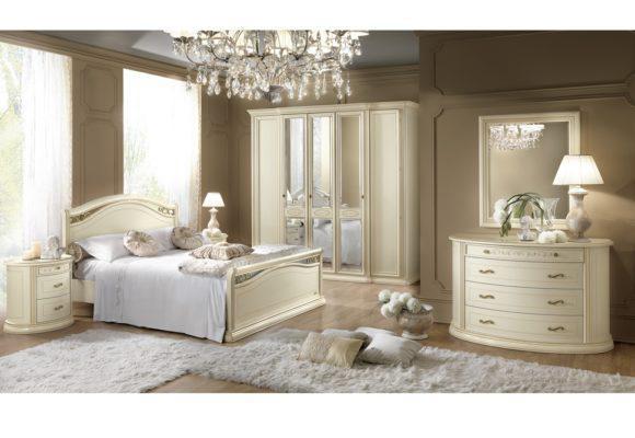 Ρομαντικό Ιταλικό Κρεβάτι Με Χρυσές Λεπτομέρειες CG-050484