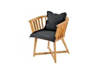 Μοντέρνα Πολυθρόνα Με Μαύρο Μαξιλάρι και χιαστή Βάση J-146547