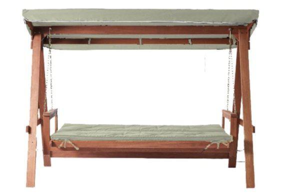 Κούνια-Κρεβάτι Τριθέσια από Ξύλο Meranti AG-221006