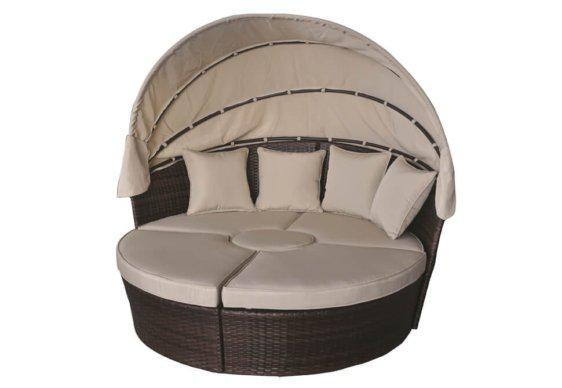Ξαπλώστρα-Κρεβάτι από Αλουμίνιο και Wicker AG-222010