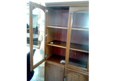 Ξύλινη Βιβλιοθήκη Με Τζάμι G-126576