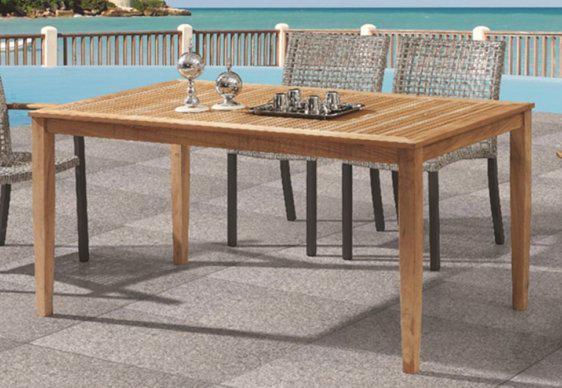 Τραπέζι από Ξύλο Teak σε Απλή Γραμμή AG-220431