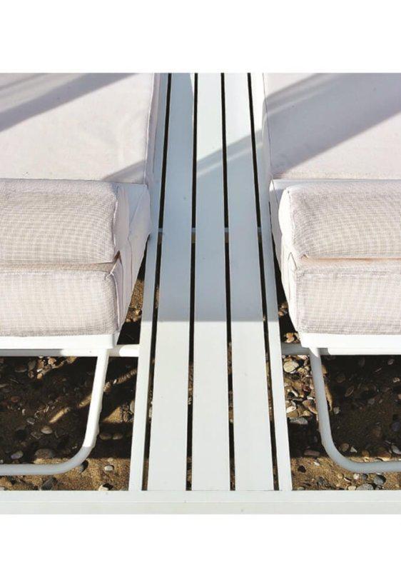 Εντυπωσιακή Διθέσια Ξαπλώστρα Daybed Αλουμινίου AG-222016