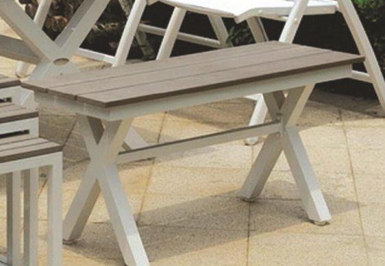 Παγκάκι για Κήπο ή Βεράντα από Αλουμίνιο και Polywood AG-220460