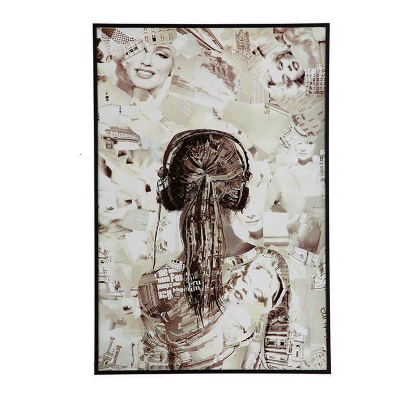 Πίνακας Κολάζ Πλάτη Γυναίκας Η-210579