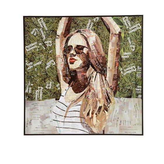 Κολάζ Πίνακας Με Πρόσωπο Γυναίκας Η-210577