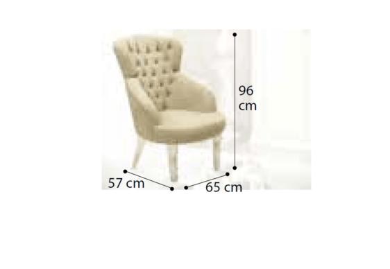 Κλασική Πολυθρόνα Με Ξύλινα Πόδια CG-135112