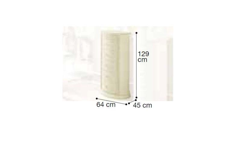Στρογγυλοποιημένη Ψηλή Ivory Συρταριέρα CG-370222