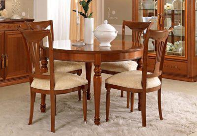Τραπέζι Στρογγυλό 120(+39)X80 Από Ξύλο Κερασιάς και Λεμονιάς CG-120050