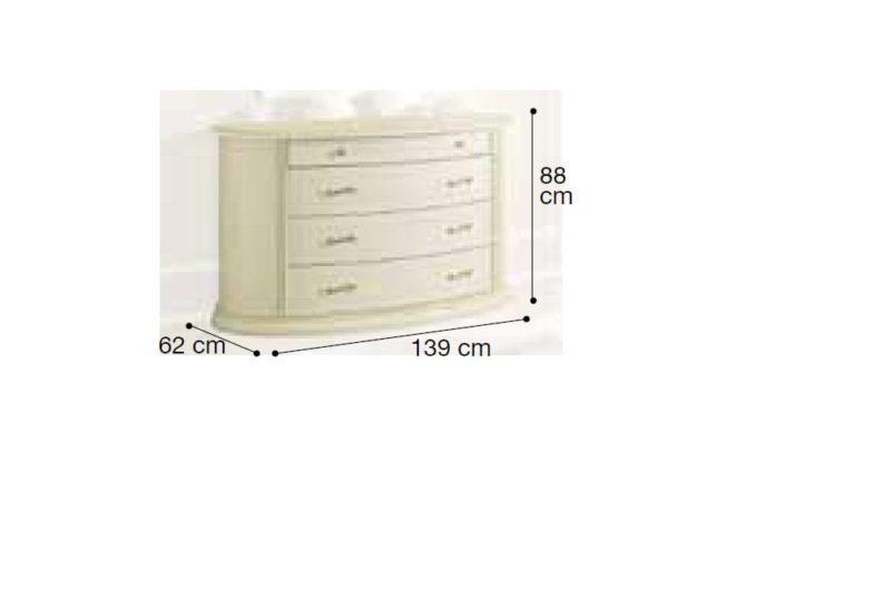 Συρταριέρα Κλασική 139ΜΧ62ΒΧ88Υ CG-370220