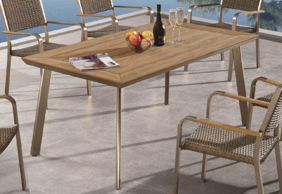 Τραπέζι Κήπου με Φινίρισμα από Ανοξείδωτο Ατσάλι AG-220465