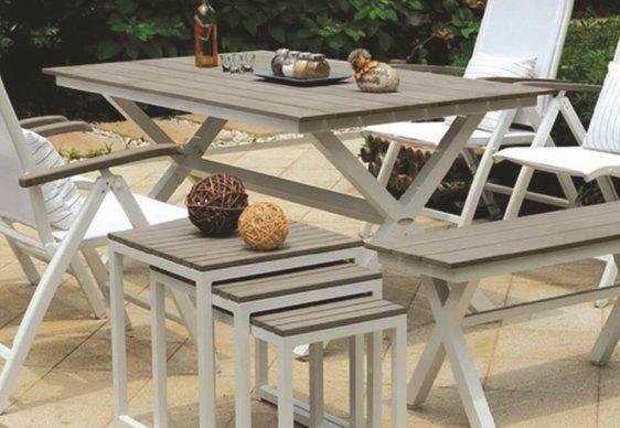 """Τραπέζι Κήπου από Αλουμίνιο με Βάση """"Χιαστί"""" AG-220458"""