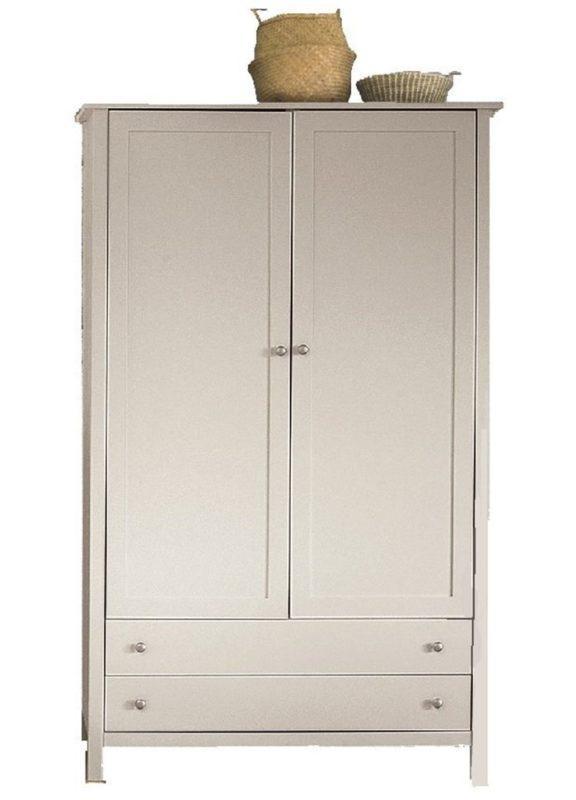 Ντουλάπα Λευκή Με Δύο Φύλλα ΤΕ-270084