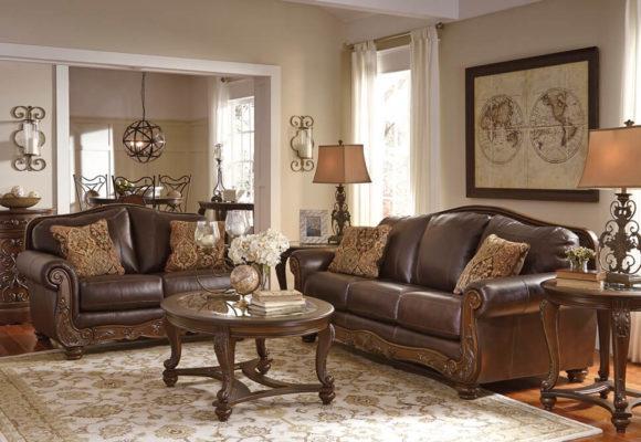 Διθέσιος Δερμάτινος Καναπές από τον Γνωστό Οίκο Ashley G-105019