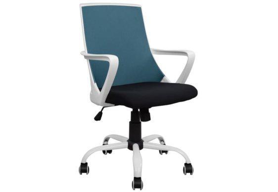 Πολυθρόνα Γραφείου Υφασμάτινη από Λευκό Πολυπροπυλένιο BB-080393