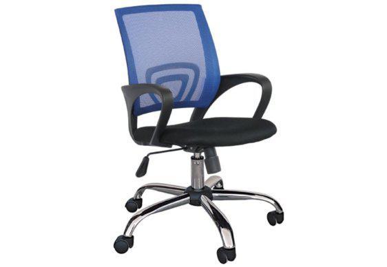 Καρέκλα Γραφείου με Δικτυωτή Πλάτη Textiline Ζ-080392