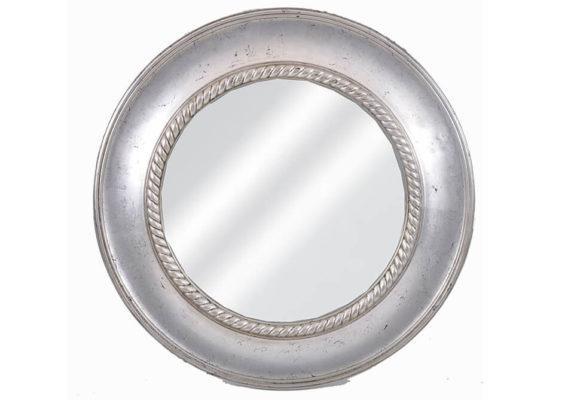 Στρογγυλός Καθρέφτης Ασημί FI-330160