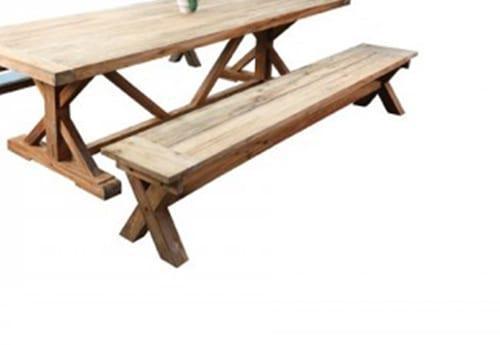 Πάγκος 2,00μήκος από μασίφ ξύλο teak J-146557