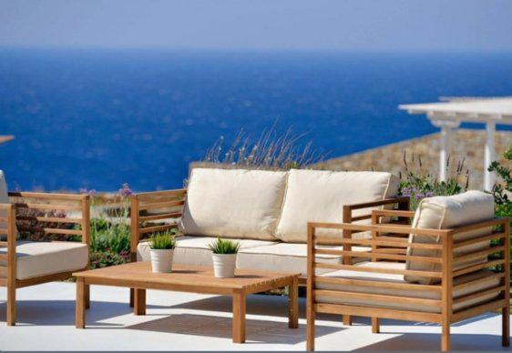 Άνετο Καθιστικό σετ Βεράντας με Ψηλά Μπράτσα J-220505