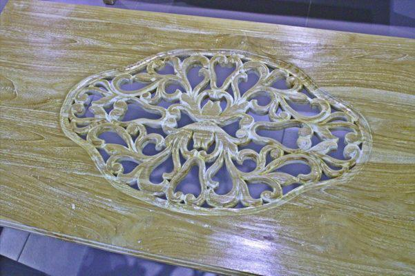 Ξύλινο Vintage Σετ Κήπου Δαντέλα J-227049