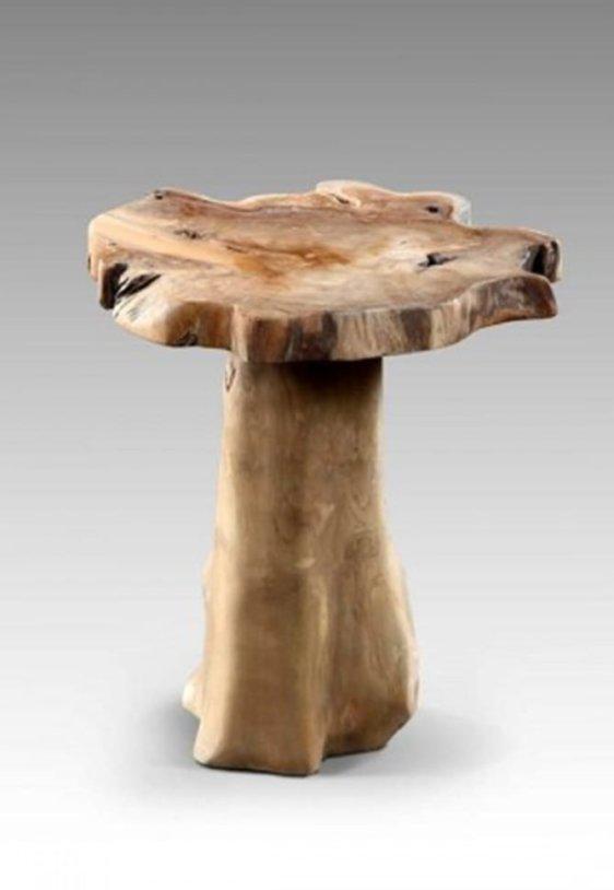 Σκαμπό Μανιτάρι από Μασίφ Ξύλο Suar J-146549