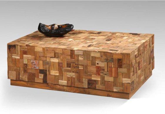 Τραπεζάκι Σαλονιού Pixel από Μασίφ Ξύλο J-146553