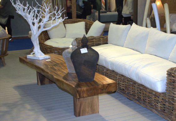 120*60 εκ τραπέζι σαλονιού από κορμό δέντρου J-146515