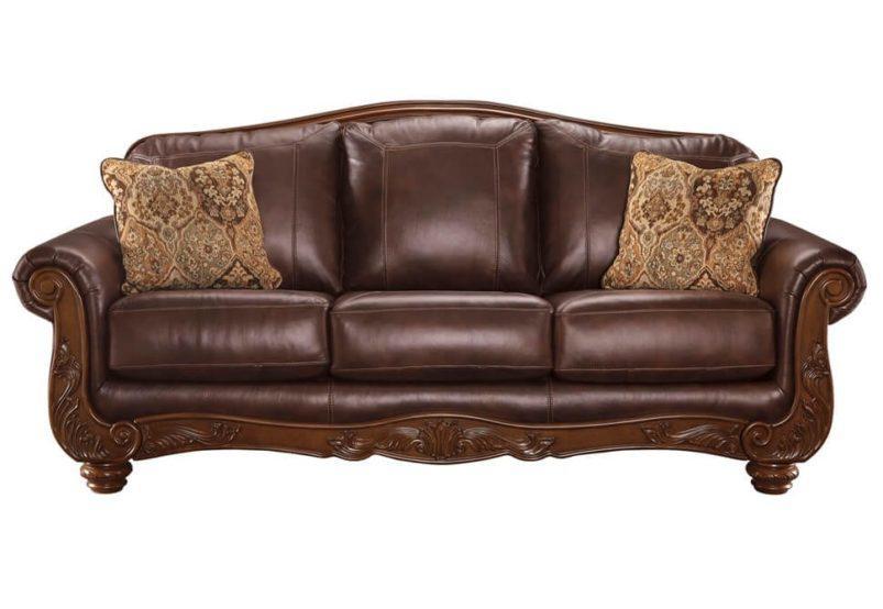 Τριθέσιος Δερμάτινος Καναπές Ashley με Ανεξάρτητα Ελατήρια G-105020