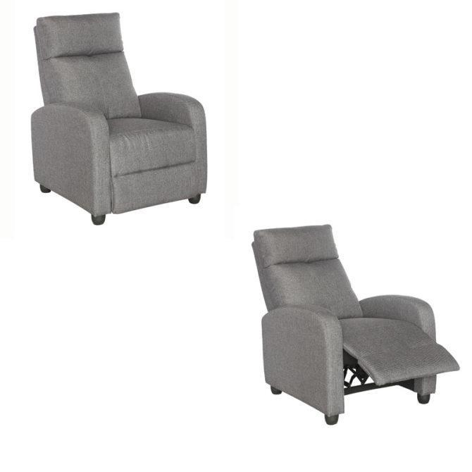 Πολυθρόνα Relax υφασμάτινη με υποπόδιο FI-132574