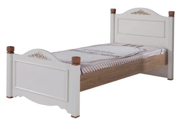 Ημίδιπλο κρεβάτι Country style