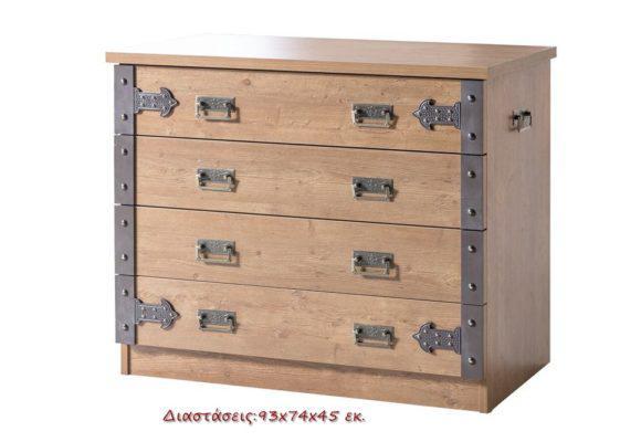 Συρταριέρα πειρατική με 4 συρτάρια Pirate Jack